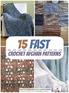 You love to crochet. You really do, but sometimes, you just don't have the time to commit to a giant project. Believe me, I'm right there with you. That's why this newly updated collection of 15 Fast Crochet Afghan Patterns will get you through this