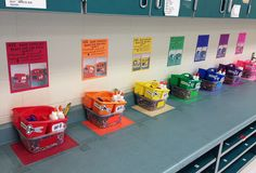 Awesome idea for STEM class supplies organization! Just take photos of how the supplies should be set up for a fast cleanup of your classroom. Art Classroom Decor, Art Classroom Management, Classroom Organisation, New Classroom, Classroom Setting, Teacher Organization, Classroom Design, Preschool Classroom, In Kindergarten