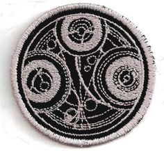 Doctor Who Time Lord Seal Patch by StoriedThreads on Etsy, $8.00