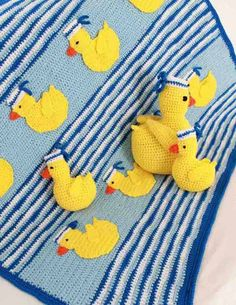 Maggie's Crochet · Sailing Duckies Afghan, Pillow and Toy Crochet Patterns