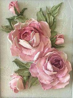 Plaster Crafts, Plaster Art, Clay Flowers, Paper Flowers, Etiquette Vintage, Decoupage Printables, Newspaper Crafts, Sculpture Painting, Decoupage Vintage