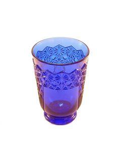 Cobalt Blue Glass Decorative Drinking Glasses