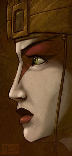 """Avatar Kyoshi"" a gorgeous rendition of her... I hope Kora gets visions of her as well. 'Cause Kyoshi is 'teh awesome!'"