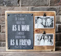 Sentimental Photo Holder | Cool Gifts For Mom On Mothers Day | Gifts For Under $20 | For More Great DIY Gift Ideas Check Out DIY Ready.com