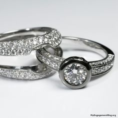 Black And White Engagement Rings Wedding