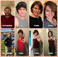 HRT, lighter, face and body changes. transition is slow but steady. Male To Female Transition, Mtf Transition, Transgender Transformation, Female Transformation, Transgender Model, Transgender People, Transgender Before And After, Mtf Hrt, Reduce Belly Fat