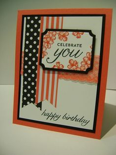Birthday Blossoms Stamp Set, In Color Envelope Paper, Watermelon Wonder Lace, Everyday Chic DSP, Lots of Labels Framelits