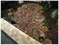 could work with cedar or redwood...Great idea with all the trees downed by all the tornadoes in AL