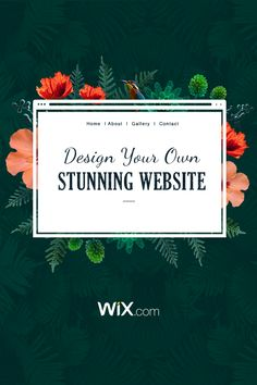 Wix.com gives you everything you need to look amazing online. Create your own stunning website today - it's easy and free.