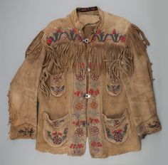 A CREE BEADED HIDE JACKET. c. 1910 ...