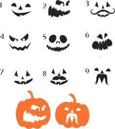 Pumpkin Halloween Faces