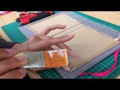 Como Hacer Encuadernacion Casera Facil Cuadernos 120 paginas Tutorial DIY Scrapbook Pintura Facil - YouTube