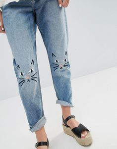 Monki | Monki Kimomo Love Jeans at ASOS