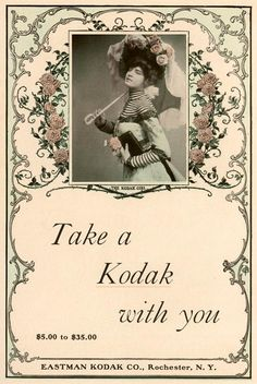 Take a Kodak with you | Vintage Kodak Ad - 1901