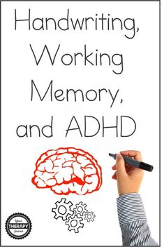 Many times children with ADHD may display difficulties with legibility and speed of during school activities. Recent research examined handwriting, working memory, and ADHD in 16 fourth and fifth-grade children compared to age-matched control children. Adhd Odd, Adhd And Autism, Adhd Signs, Adhd Help, Adhd Diet, Adhd Brain, Adhd Strategies, Pediatric Occupational Therapy, Working Memory