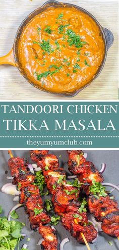 Aromatic tandoori chicken tikka masala is such a popular recipe This version adds extra spices to the chicken tikka for added flavor Yum tandoorichicken tandoori chickentikka chickentikkamasala indianfood curry masala food recipes foodie Chicken Tikka Masala, Pollo Tikka Masala, Tandoori Chicken Marinade, Grilling Recipes, Beef Recipes, Chicken Recipes, Cooking Recipes, Curry Recipes, Korma