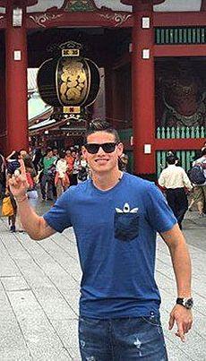 James visiting Tokio. July 7, 2015