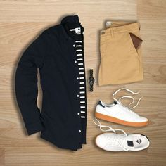 Yes or No :interrobang::sunglasses: Follow: @hunter_vought for more!! Shirt/Sweater/Chinos: @nonationality07 Sneakers: @newbalance for @jcrewmens Watch: @woodwatches_com Wallet: @fossil #flatlay #flatlays #flatlayapp www.theflatlay.com
