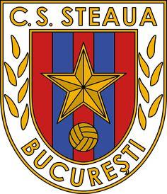 CS Steaua Bucharest of Romania crest. Football Team Logos, Soccer Logo, Logo Branding, Branding Design, Logo Design, Sport Club Corinthians, Graphic Design Posters, Badge, Barcelona