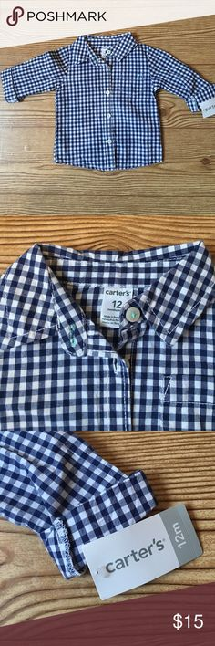 CARTERS PLAID TOP Classic button down top Carter's Shirts & Tops Button Down Shirts