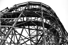 Black and white - metal structure