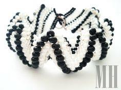 Bransoletka Zig-Zag z koralików Preciosa i Toho | MH Biżuteria - cuda ręcznie wykonane