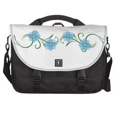 "Blue ""Floral Swirls"" Bag"