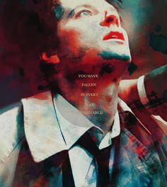 Castiel: You have fallen in every way imaginable. Supernatural Fan Art, Castiel, Winchester Boys, Two Brothers, Misha Collins, Superwholock, Hunger Games, Drawing Tips, Fangirl