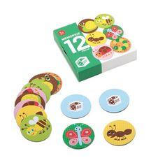 memorice 12 piezas insectos, juego de mesa, juguetes Casaideas // memo game, board games