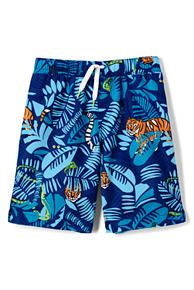 Boys Printed Swim Trunks