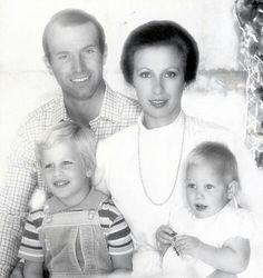 Mark Phillips and Princess Anne with Peter and Zara