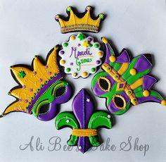 Beautiful Mardi Gras Sugar Cookies