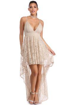 4bd8a02bd72 FINAL SALE- Gia Taupe Lace Dress