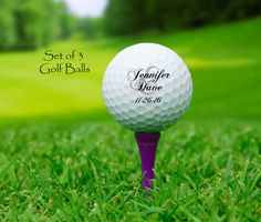 BRIDE and GROOM golf balls - custom golf balls - wedding golf balls - wedding gift for couple - golf wedding - personalized wedding gift by NowThatsPersonal on Etsy