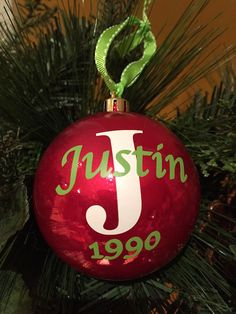 A personal favorite from my Etsy shop https://www.etsy.com/listing/251649972/personalized-christmas-ornament-ball