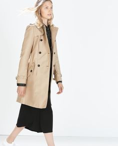 Image 2 of DOUBLE BREASTED TRENCH COAT from Zara