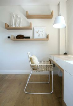 Office Space - an open, uncluttered space is horribly wonderful for productive thought.  #furniture_as_art  something beautiful shoppe
