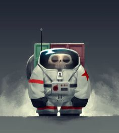 The tiny Cosmonaut! by James A. Castillo