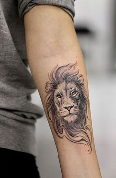 Small Lion Tattoo lion tattoo 20 Fierce Lion Tattoos for Men Lion Forearm Tattoos, Lion Head Tattoos, Mens Lion Tattoo, Leo Tattoos, Animal Tattoos, Tattoos Of Lions, Lion Tattoo On Back, Lion Tattoo On Thigh, Tatoos