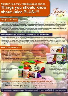 You need more whole- food nutrition. Research shows that Juice Plus+ delivers fruit and vegetable nutrition you need to maintain a healthy diet. Different Fruits, Different Vegetables, Juice Plus Tower Garden, Shred 10, Juice Plus Complete, Juice Plus+, Juicing Benefits, Juicing For Health, Vegetable Nutrition