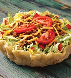 Taco Time's Beef Taco Salad Mexican Food Recipes, Dinner Recipes, Ethnic Recipes, Taco Time, Fast Food Restaurant, Copycat Recipes, Food Inspiration, Dressings, Closer