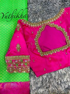Blouse Designs Catalogue, Best Blouse Designs, Bridal Blouse Designs, Blouse Neck Designs, Blouse Patterns, Hand Work Blouse Design, Stylish Blouse Design, Embroidery Works, Simple Embroidery
