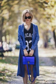 Mix sporty pieces with chic ensembles