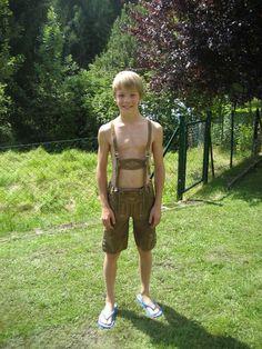 Lederhosen boy shirtless