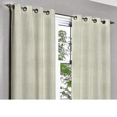Saffron Ivory Dream Grommet Unlined Curtain in by TheHomeCentric