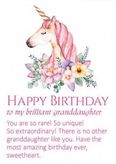 Super happy birthday wishes girl unicorn 27 Ideas Grandaughter Birthday Wishes, Birthday Wishes For Her, Birthday Quotes For Her, Birthday Verses, Happy Birthday Wishes Cards, Birthday Reminder, Birthday Wishes Quotes, Birthday Messages, Birthday Greeting Cards