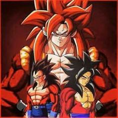 Goku ssy4 and vegeta ssy4 =gogeta ssy4