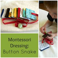 Montessori on a Budget blog: Montessori Dressing: Button Snake