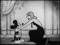Mothic Flights And Flutterings, Greta Garbo loves Mickey Mouse in . Mickey Mouse Vintage, Mickey Mouse Cartoon, Vintage Cartoon, Vintage Disney, Old Disney, Disney Love, Disney Mickey, Disney Pixar, Cartoon Gifs