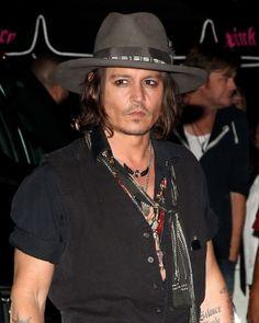 Johnny Depp, male actor, celeb, hat, photo